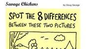 请找出下面两幅图中8个不同的地方。。不是一般人能找全的哦~