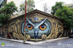 这个街头涂鸦帅