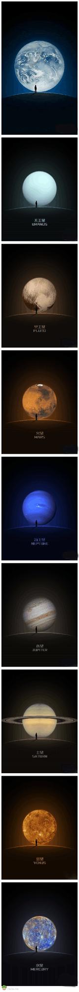 如果把微信里的地球换成太阳系的其他八大行星!