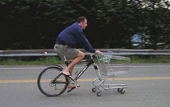 如此创意自行车真是家庭煮夫的最爱啊