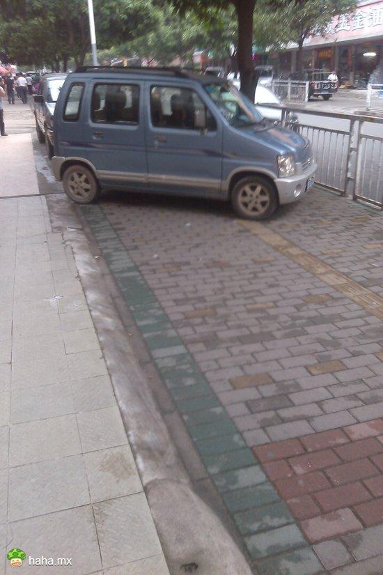 赶小贩经常见,一条人行道到处停车没见有人管过。