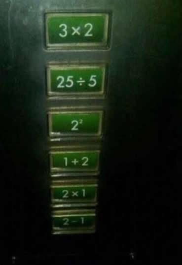 知识太重要了,要不然电梯都不知道怎么按