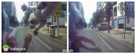 司机入城未减速 轿车撞飞小女孩